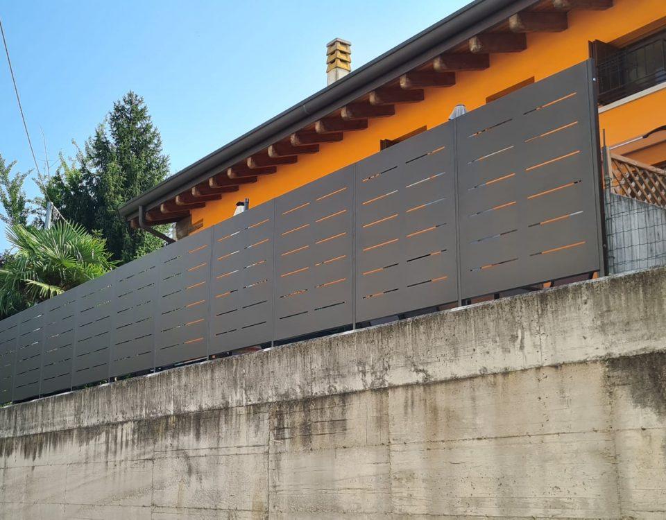 cmc recinzioni-cantiere castel d'azzano-Recinzione modello mare