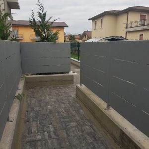 cmc recinzioni - cantiere curnasco - Recinzione modulare modello Mare