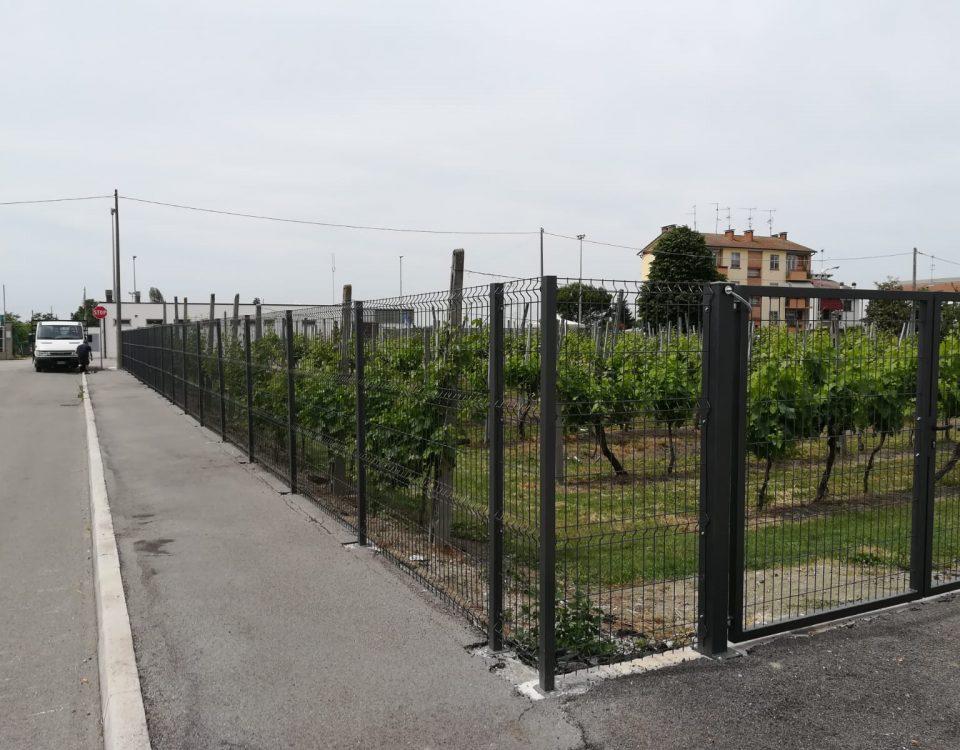 cmc recinzioni-cantiere Ferrara-Recinzione modello ondina