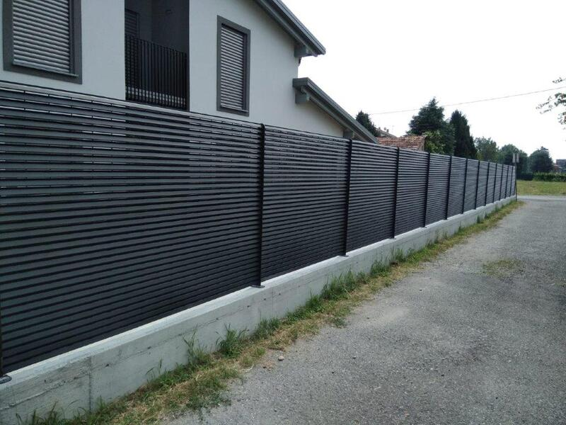 cmc recinzioni-cantiere monza brianza-Recinzione modello vedo non vedo