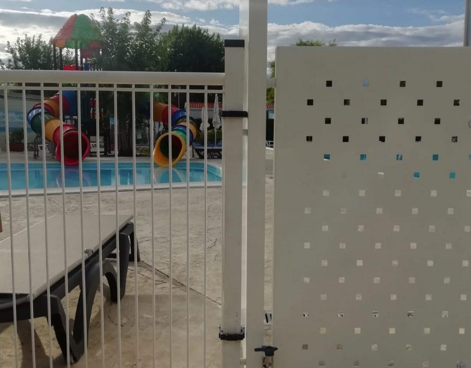 cmc recinzioni-cantiere peschiera del garda-Recinzione modello foro quadrato