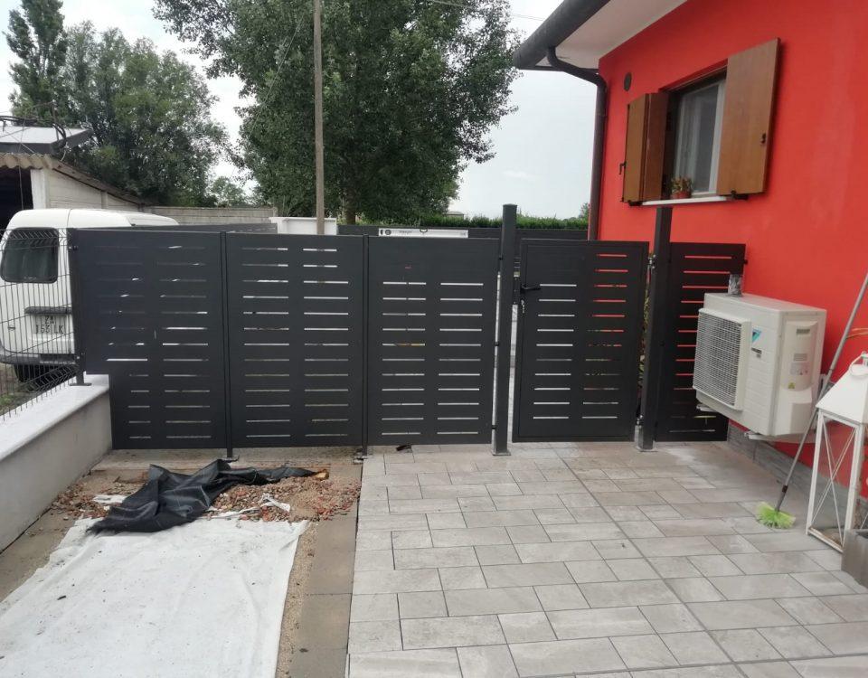 cmc recinzioni-cantiere porto tolle-Recinzione modello mare