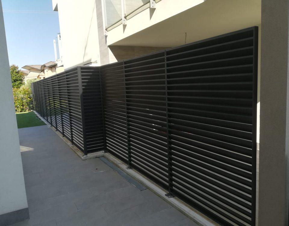 cmc recinzioni-cantiere rivolta d'adda-Recinzione modello vedo non vedo