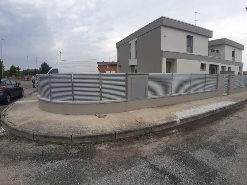 cmc recinzioni-cantiere Rovigo-Recinzione modello vedo non vedo