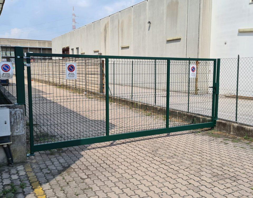 cmc recinzioni-cantiere san giovanni lupatoto-Recinzione modello ondina