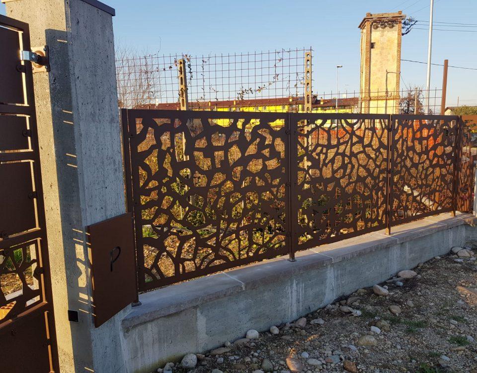 cmc recinzioni - cantiere valeggio - Recinzione in lamiera