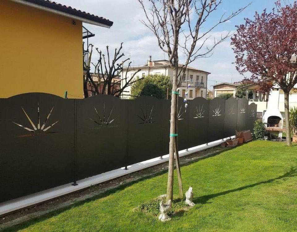 cmc recinzioni-cantiere Verona-Recinzione modello mezzo sole