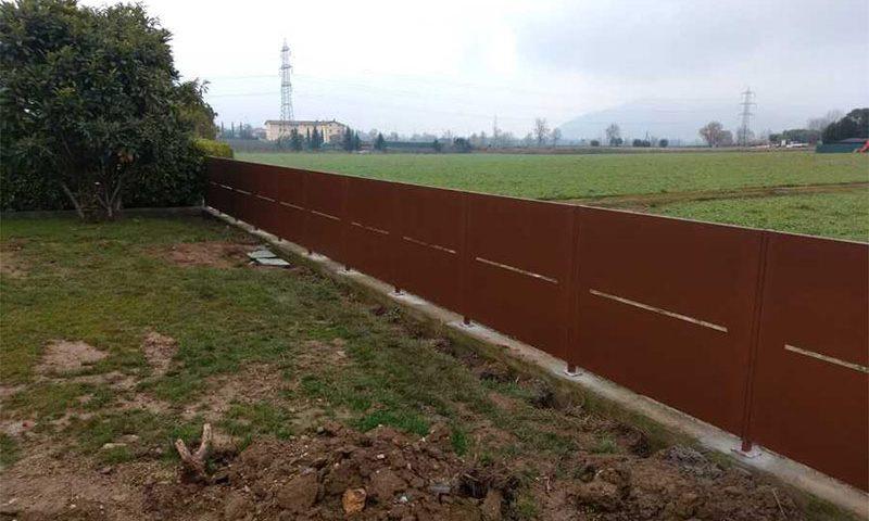 cmc recinzioni-cantiere corte franca-Recinzione modello isola