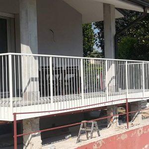 cmc parapetti-cantiere castel d'azzano-parapetto modello tonda