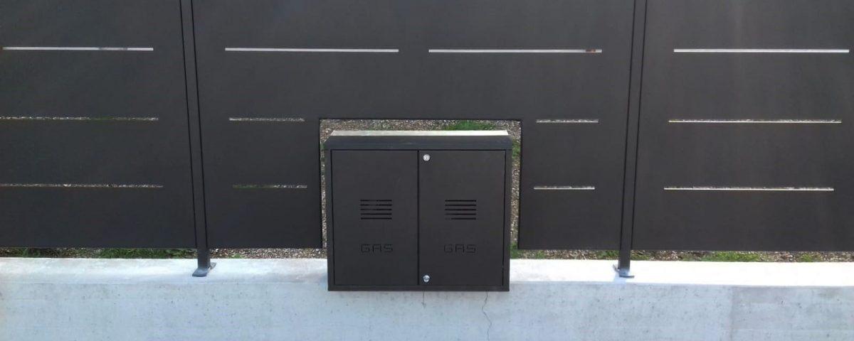 nicchia per gas ed elettricità recinzione verona cmc
